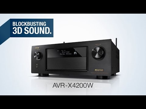 The AVR-X4200W Network AV Receiver - Blockbusting 3D Sound