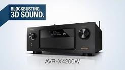 The AVR-X4200W Network AV Receiver - Blockbusting 3D Sound