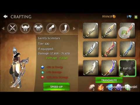 How To Get 100 Level Weapon From Crafting In Dungeon Hunter 4