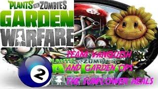 plants vs zombies team vanquish+ garden ops. the sunflower heals.
