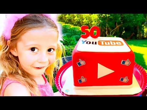 Настя и праздник на её детском канале
