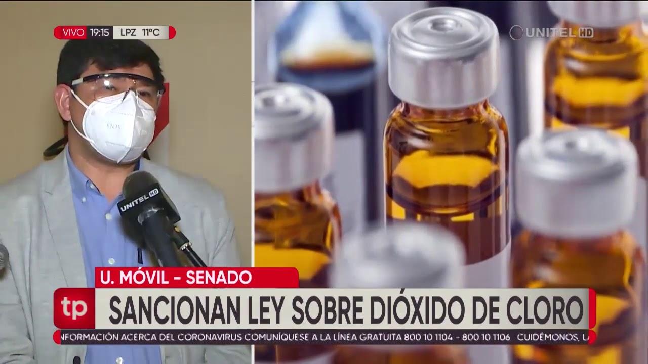 Sancionan ley sobre el uso del dióxido de cloro que indican de carácter voluntario