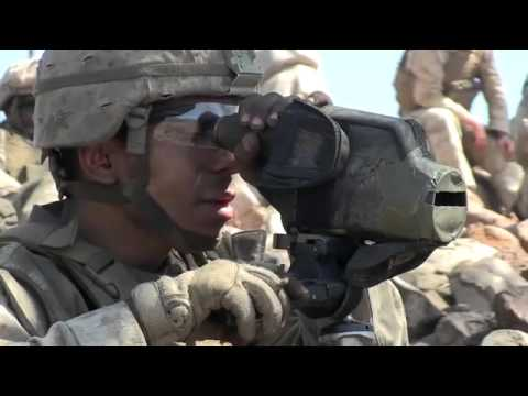 Real Snipers in Action - US Marines Snipers With M40A5, M110 and M107 .50 at Range