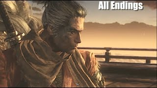 Sekiro Shadows Die Twice All 3 Endings - Happy, Sad And Bad thumbnail