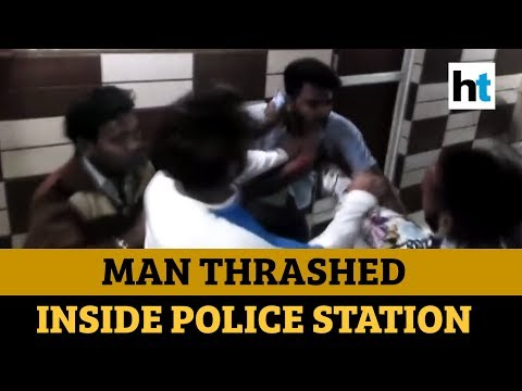 Caught on cam: Man thrashed by miscreants inside police station in Meerut