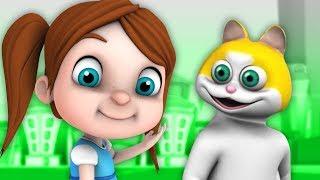песня кота | детские стишки | Детские песни | Pussy Cat Pussy Cat | Little Treehouse Russia