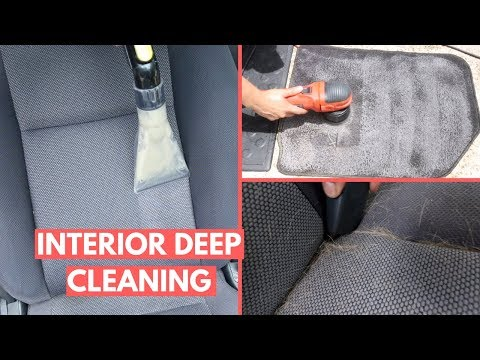 FILTHY Interior Cleaning: Cloth Seats, Floor Mats, & PET Hair Removal on 15 Year Old Car