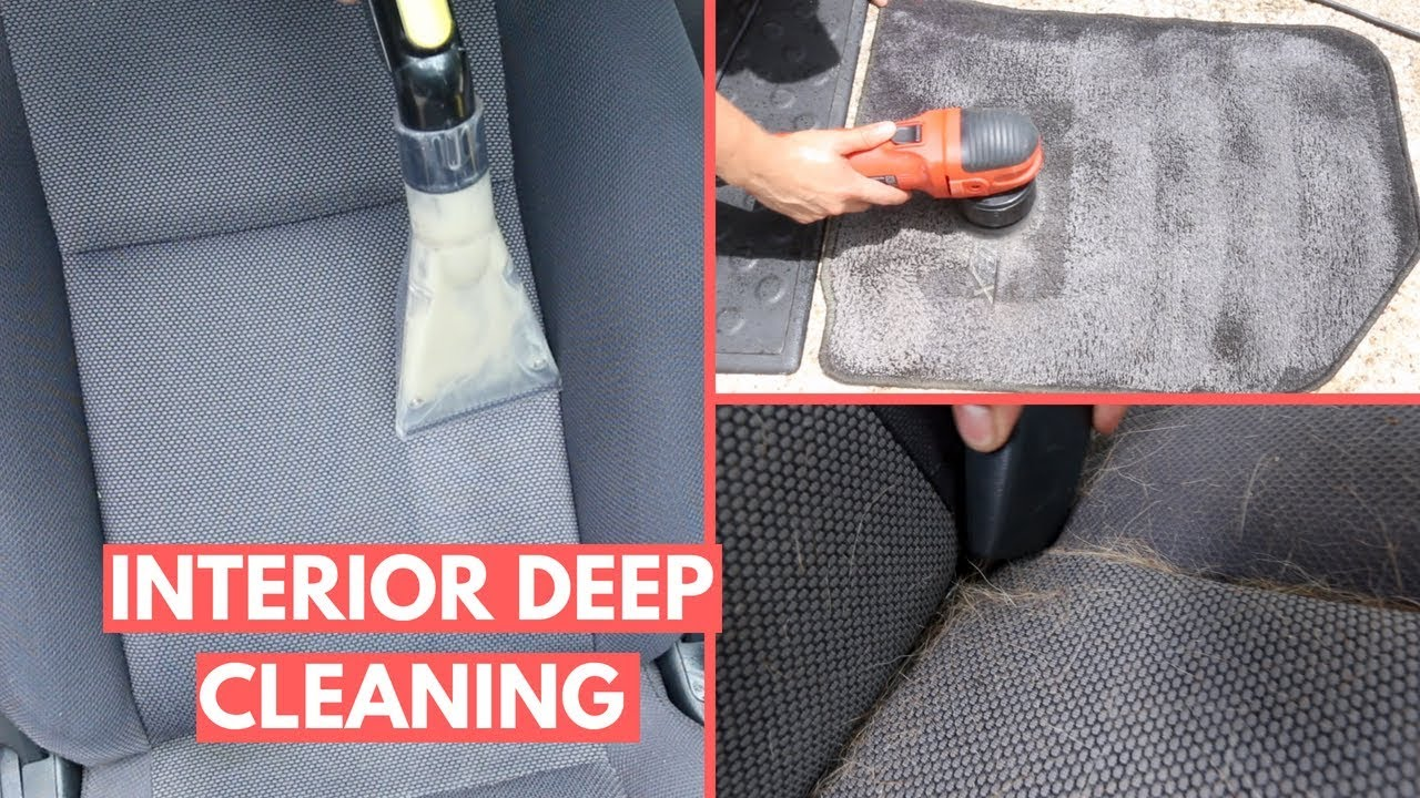 Filthy Interior Cleaning Cloth Seats Floor Mats Pet Hair