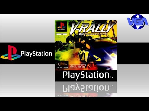 V Rally Gameplay PS1  ( 1997 )
