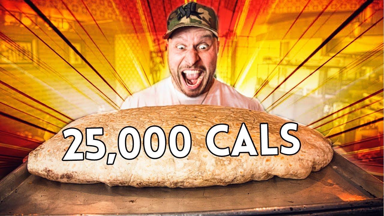 30Lb Massive Burrito Challenge Worlds Largest Burrito 25 000 Calories