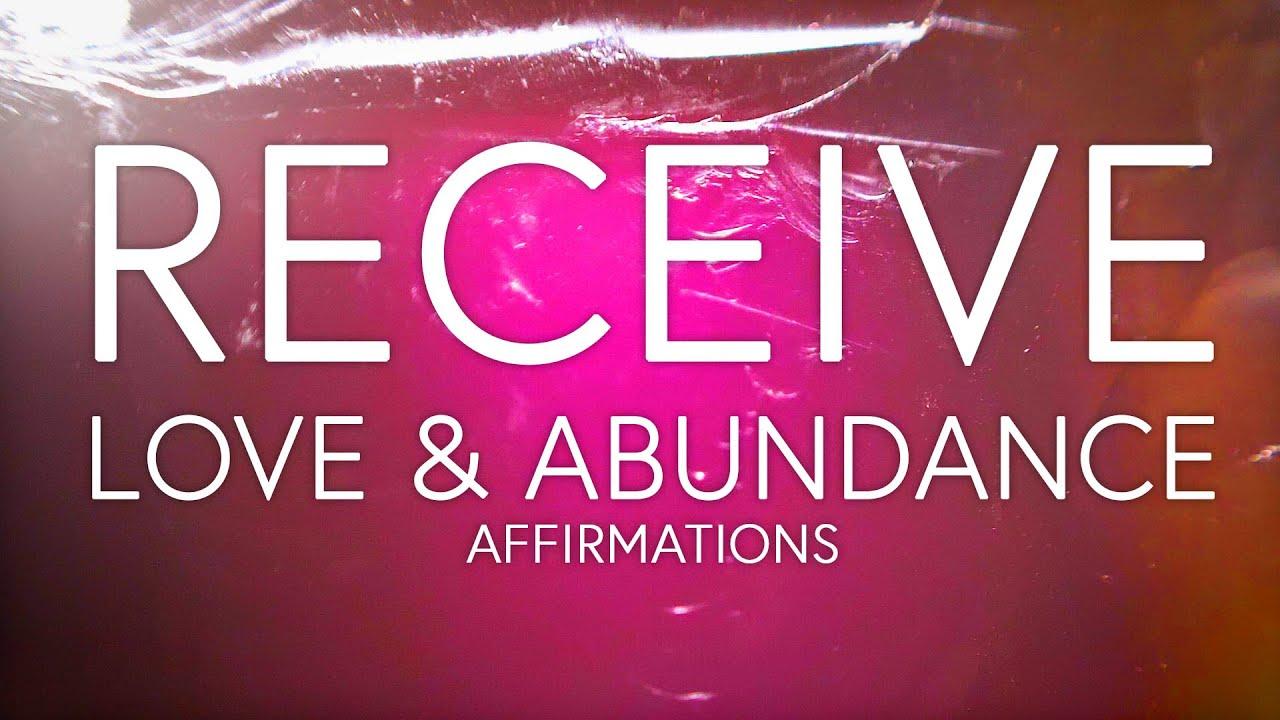 Love and Abundance Affirmations, Sleep and Meditation ...