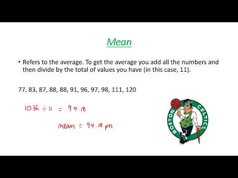 mode median and mean