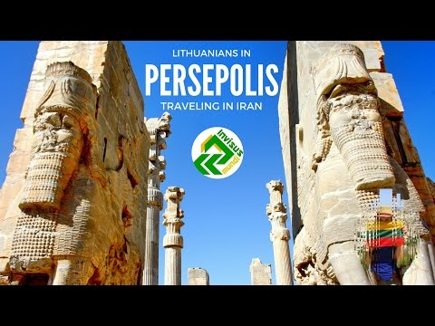 Traveling in Iran. Visiting Persepolis