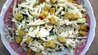 Салат из свежей капусты с сухариками