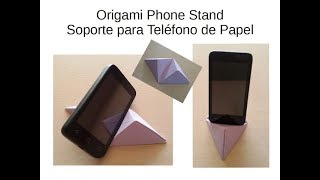 DIY #Origami Mobile Stand  Tutorial - Soporte para Móbil / Teléfono de Origami