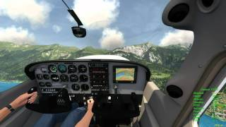 Aerofly FS simulator: first Cessna 172 SP tests