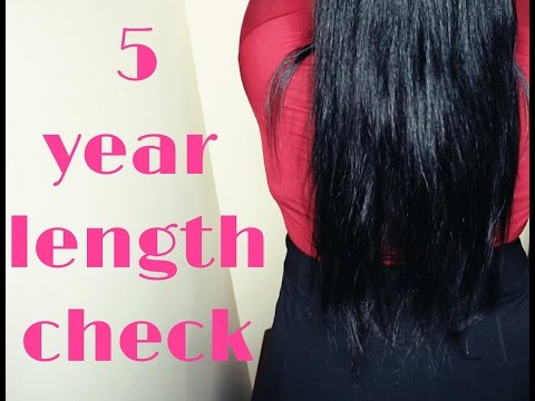 5 Year Natural Hair Length Check