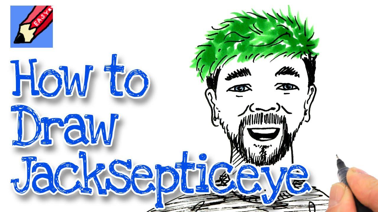 How To Draw Jacksepticeye Realeasy