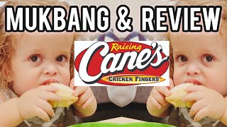 Mukbang and Review of Raising Canes with Penny, Grayson, and Tabby VLOG 198