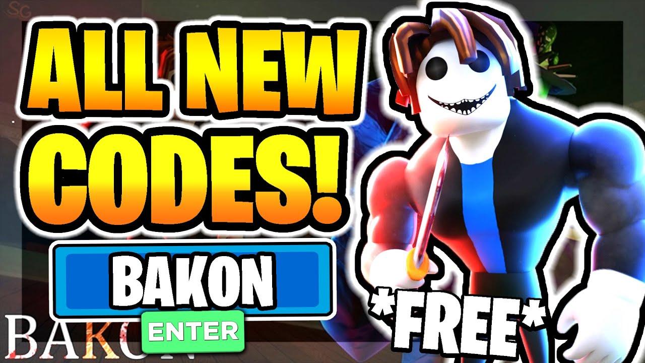 All New Secret Working Codes In Bakon Roblox Bakon Youtube