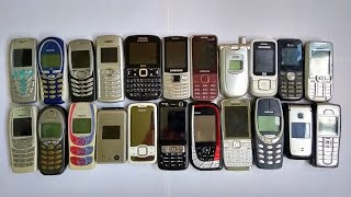 My collection of old phones Nokia, Samsung, Siemens