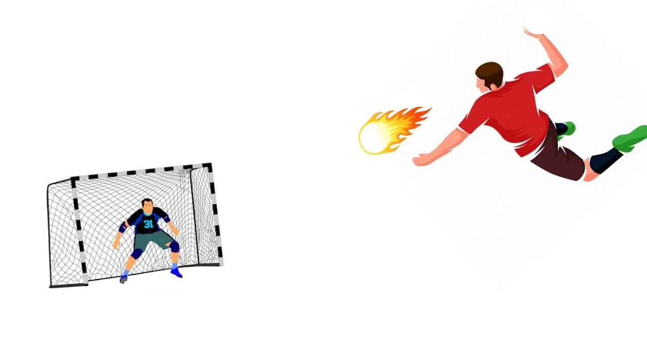 Handball Spielzüge Animation