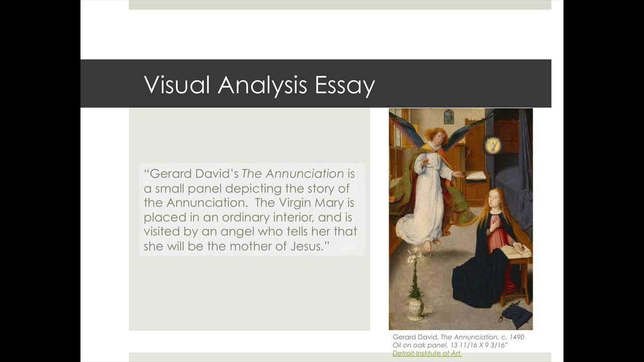 writing a visual analysis essay