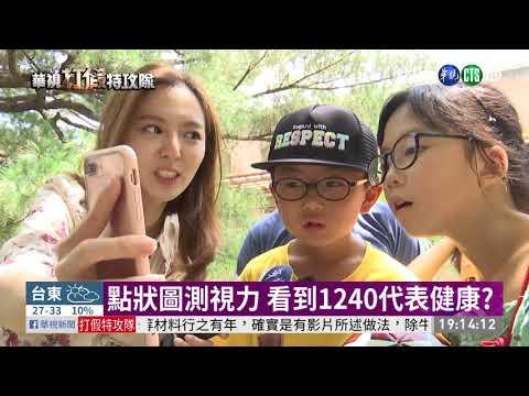 點狀圖測視力 看到1240代表健康? | 華視新聞 20190619