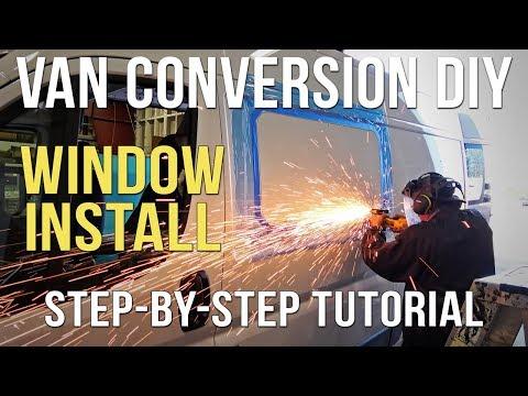 🚐 Van Conversion Window Installation - Van Life DIY - Class B Living