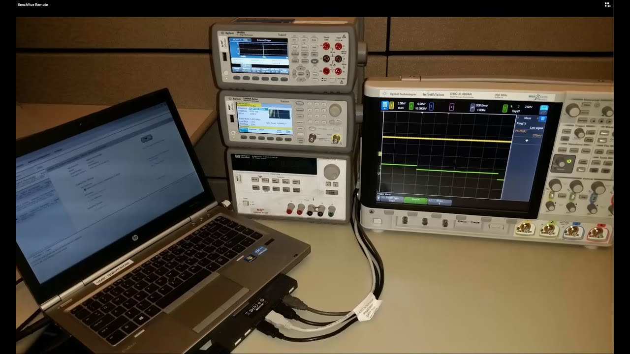 Using BenchVue to remotely control bench instruments