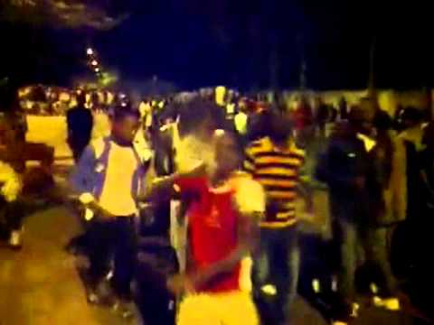 young patriots in front of the presidence to protect Laurent Gbagbo