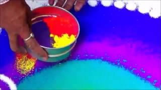 How to draw Rangoli with best colour combination Wedding Rangoli