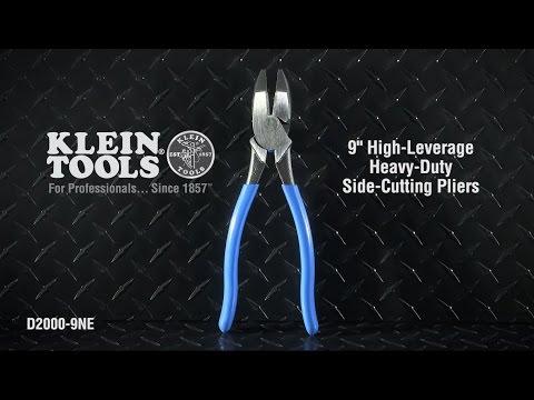 9'' (229 mm) High-Leverage Side-Cutting Pliers - Heavy-Duty Cutting
