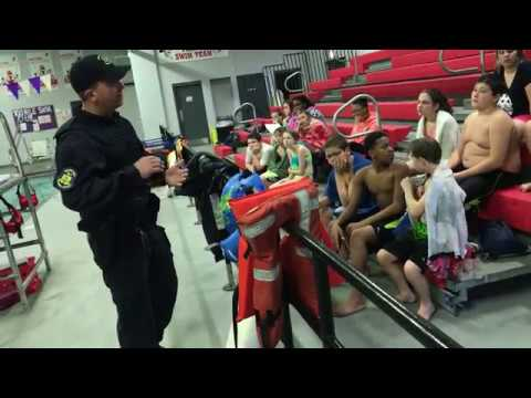 Hannibal Middle School 7th graders learn about water safety