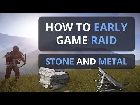Rust: Early Game Raiding Stone and Metal!?! And the Cost!!