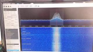 137 mhz noaa wx sat reception using v dipole antenna