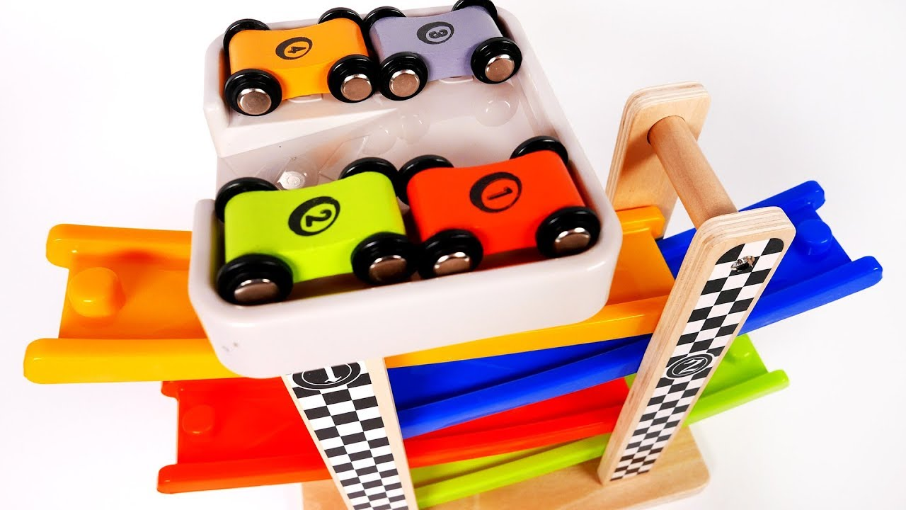 Racing Car Tower Race Cars Playset For Children And Kids Learn