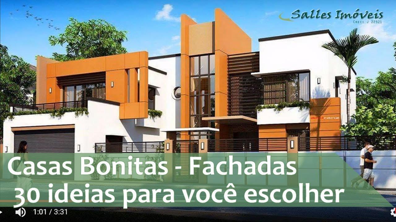 Casas bonitas mais de 30 fachadas para voc escolher sua for Fotos de casas modernas con tejas