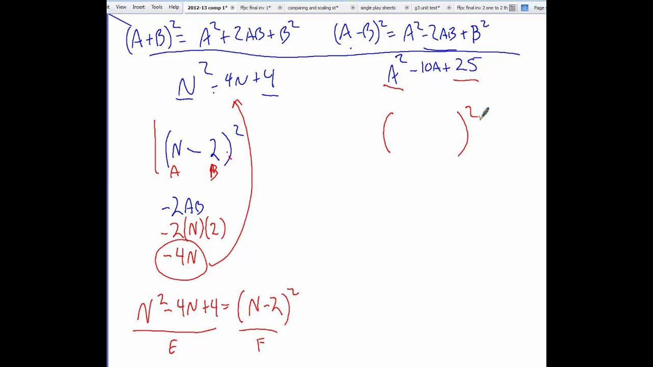 56 How To Factor A Square Binomial  Quick