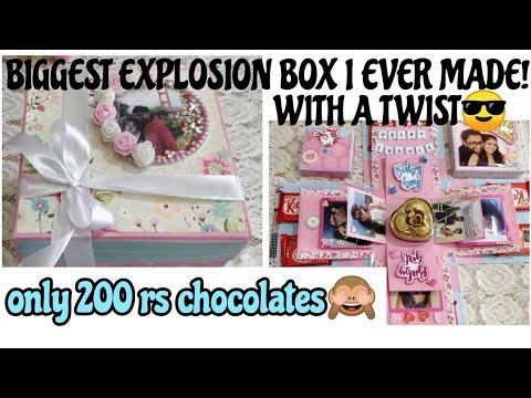 How to make chocolate explosion box at home/ diy gifts for birthday ideas/baby shower gift ideas