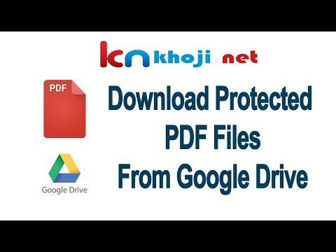 How To Download Protected PDF Files From Google Drive (Without Any Additional Software)