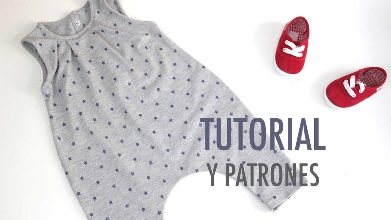 DIY Cómo hacer mono UNISEX (patrones gratis) - YouTube