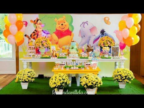FIESTA DE WINNIE POOH |BIRTHDAY PARTY CHILDRENS|2018|FIESTAS INFANTILES|MESA DE DULCES|DECORACION