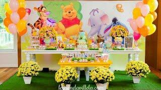 FIESTA DE WINNIE POOH  BIRTHDAY PARTY CHILDRENS 2018 FIESTAS INFANTILES MESA DE DULCES DECORACION