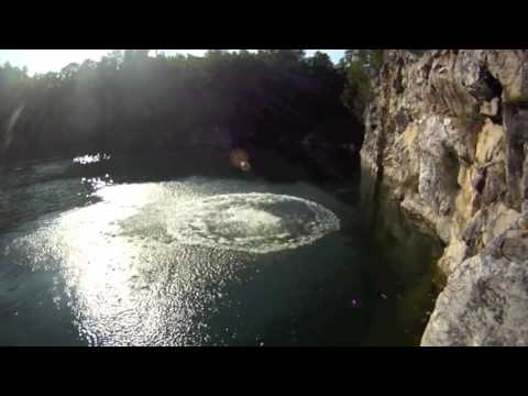 Cliff Jumping, Colchester VT, 9 12 2011