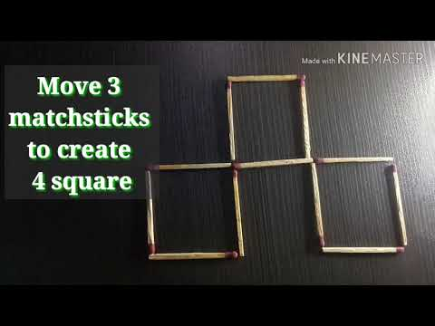 Matchsticks puzzle tricks