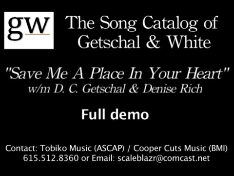 Save Me A Place In Your Heart lyric  full demo