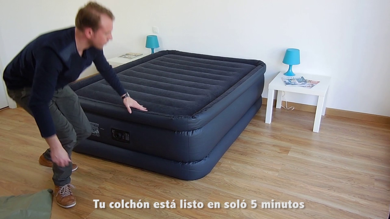 Cama hinchable intex raised downy bed fiber tech 2 for Sofas que se hacen cama