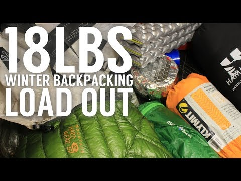 Winter Backpacking Gear Load Out - Shelter Camping - Ultralight Setup