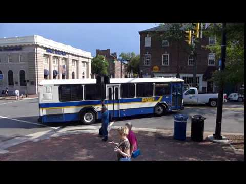 Alexandria, Virginia - DASH Bus In Old Town Alexandria HD (2016)